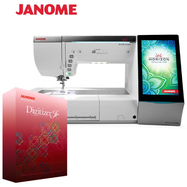 JANOME MEMORY CRAFT 15000 HORIZON JR SET